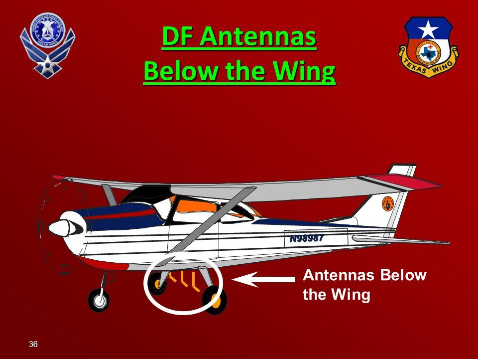 36 DF Antennas Below the Wing N98987 Antennas Below the Wing