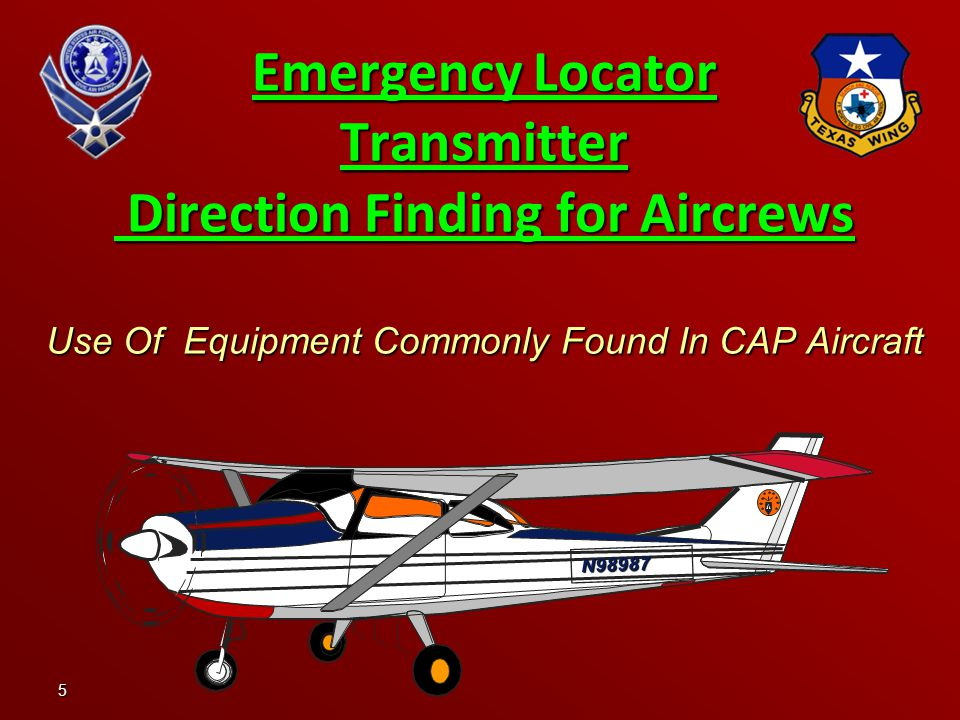 5 Emergency Locator Transmitter Direction Finding for Aircrews Use Of Equipment Commonly Found In CAP Aircraft N98987