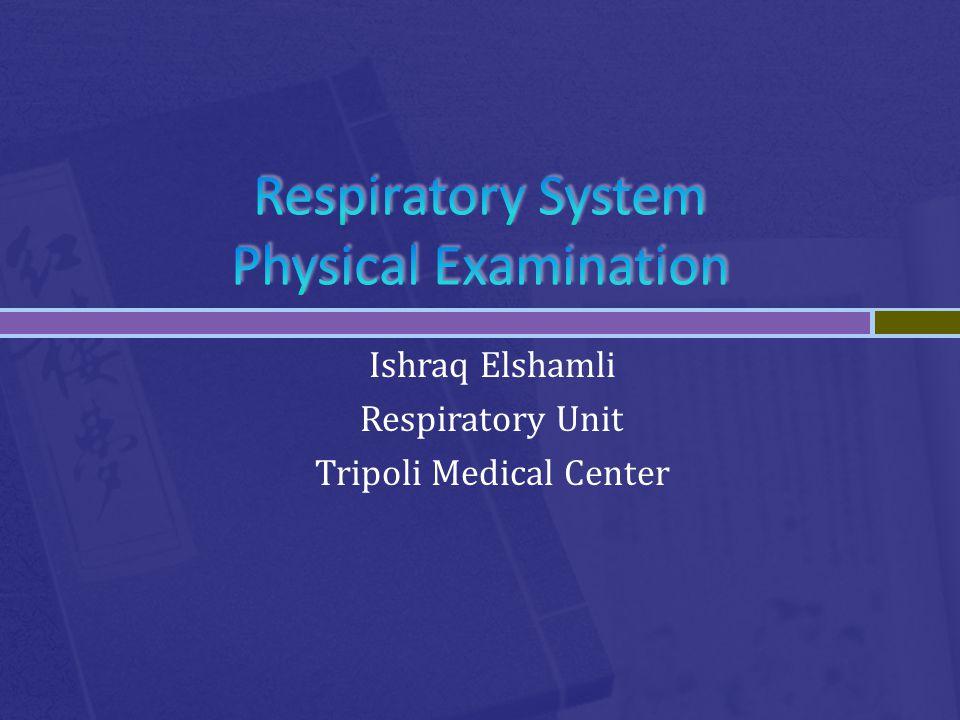 Ishraq Elshamli Respiratory Unit Tripoli Medical Center