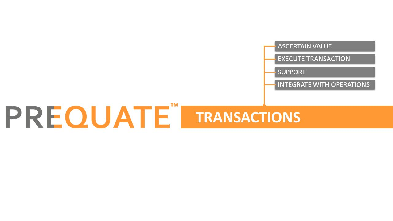 TRANSACTIONS ™ ASCERTAIN VALUE EXECUTE TRANSACTION SUPPORT INTEGRATE WITH OPERATIONS