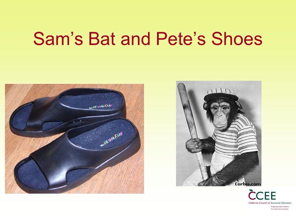 Sam's Bat and Pete's Shoes