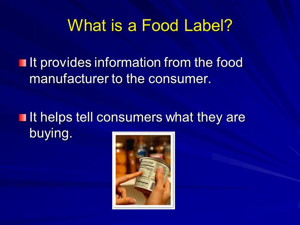 Allergen Information Any foods that has been specially Any foods that has been specially manufactured to meet the allergy-related manufactured to meet the allergy-related requirements of a particular group must requirements of a particular group must indicate this clearly on the label.