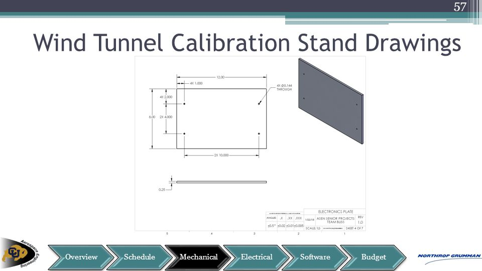 Wind Tunnel Calibration Stand Drawings 57
