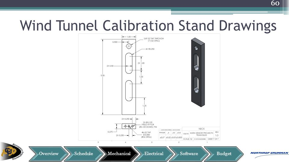 Wind Tunnel Calibration Stand Drawings 60