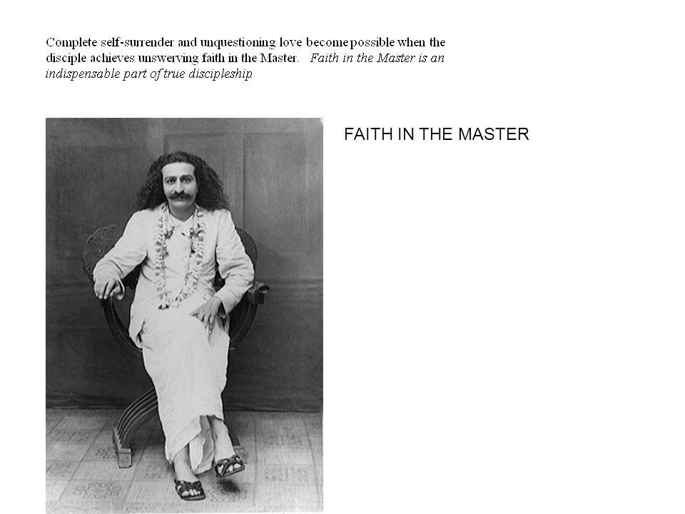 FAITH IN THE MASTER