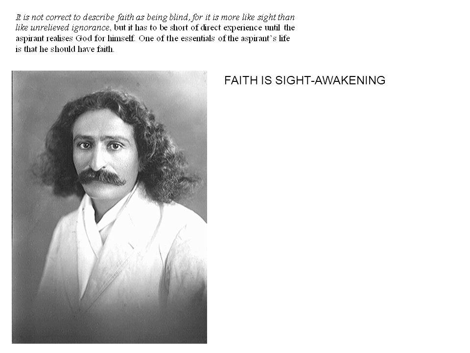 FAITH IS SIGHT-AWAKENING