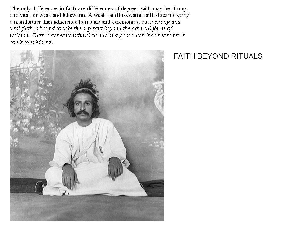 FAITH BEYOND RITUALS