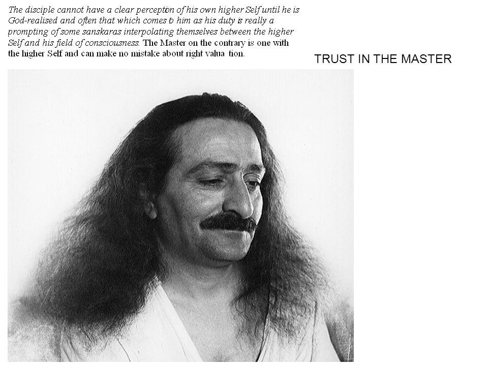 TRUST IN THE MASTER