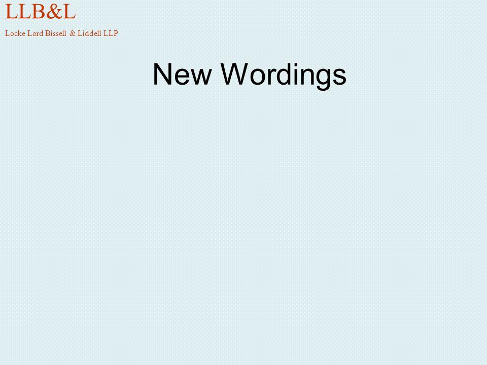New Wordings LLB&L Locke Lord Bissell & Liddell LLP