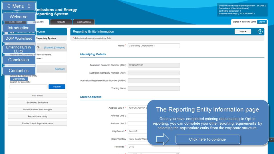 The embodied emissions page The PEN for Opt-in reporting will appear in the embodied emissions summary page. You can change any entered data by clicki