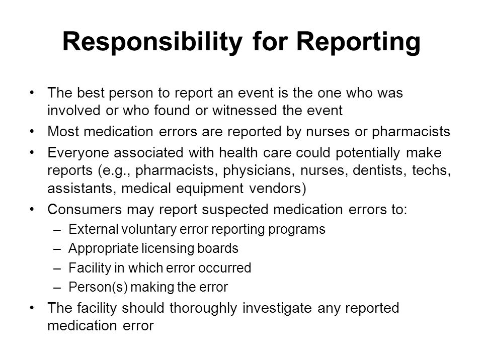 Health Care Providers' Perspective Physician responses varied, from always disclose complications to disclose those that cause harm, unless the harm is trivial or the patient is unable to understand the error Near misses should not be disclosed, preferring to handle them as the physician's problem Risk managers surveyed: –More than half always disclose death or serious injury due to error –Less likely to disclose preventable harm than unpreventable harm –Those who felt disclosure increased the risk of litigation were more likely to disclose unpreventable harm over preventable harm Physician definition of error: Deviation from the accepted standard of care Patient definition of error: All unpreventable adverse events, as well as poor service quality and low interpersonal skills on the part of the practitioner