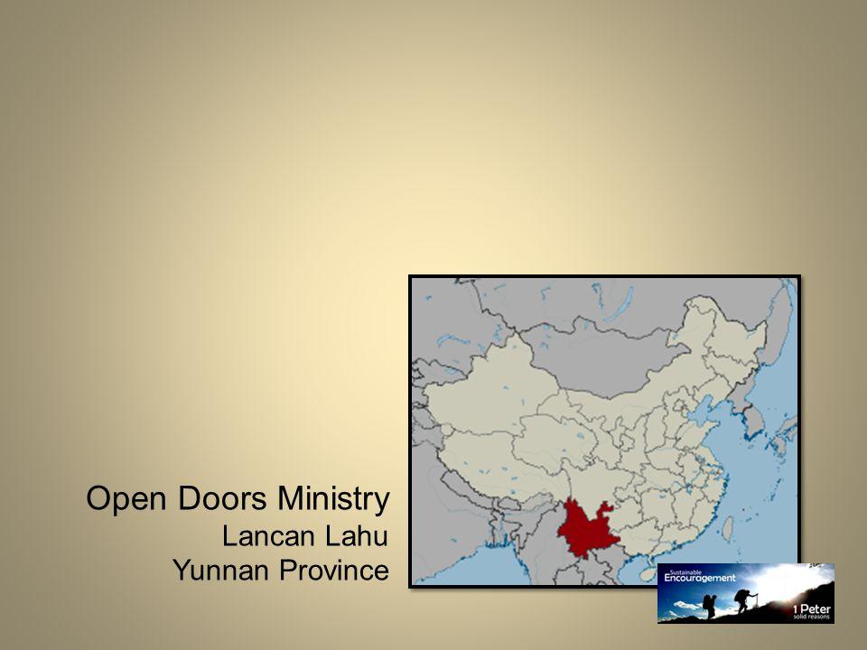 Open Doors Ministry Lancan Lahu Yunnan Province