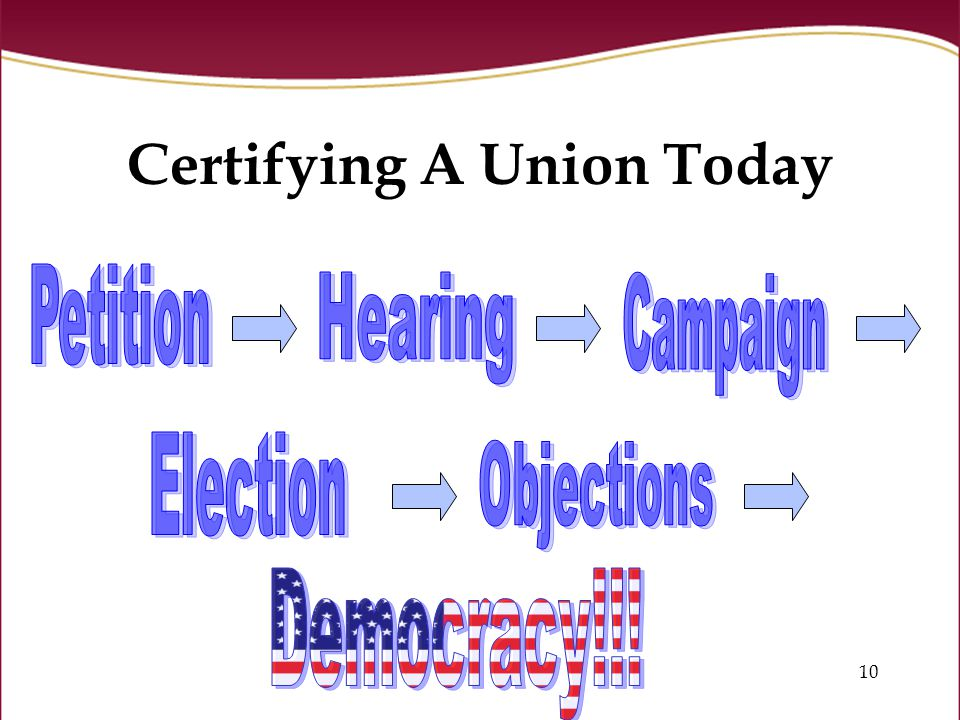 10 Certifying A Union Today