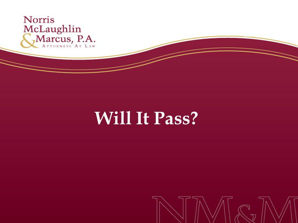 Will It Pass