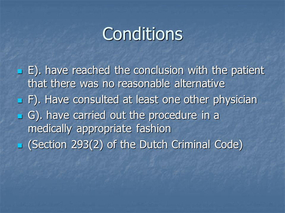 Conditions E).