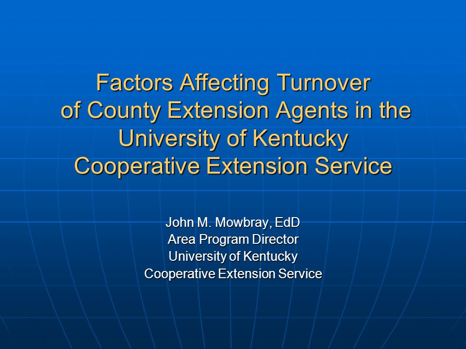 Factors Affecting Turnover Organizational - 1.Insufficient pay 2.