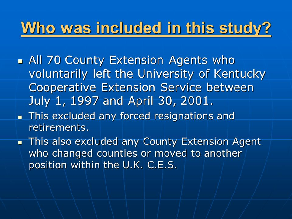 Data Collection Information from agents was collected via mailed questionnaire.