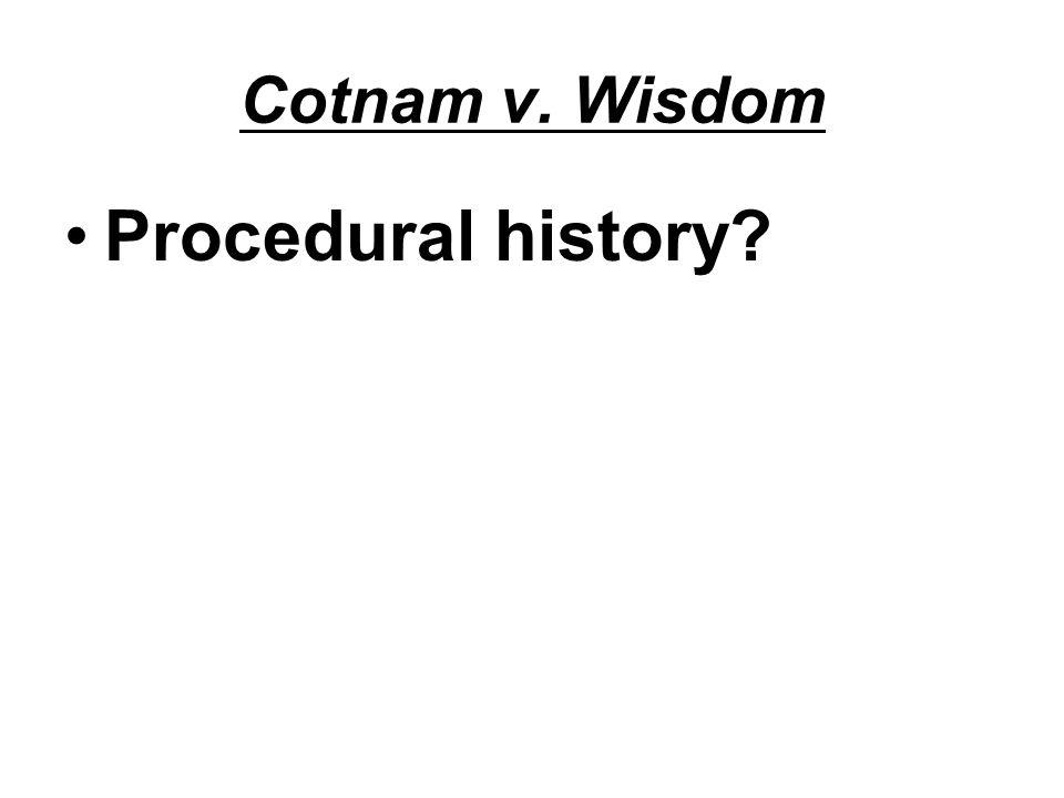 Cotnam v. Wisdom Procedural history