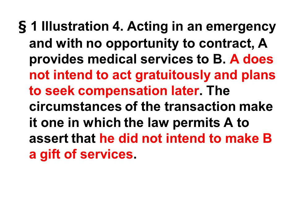 § 1 Illustration 4.
