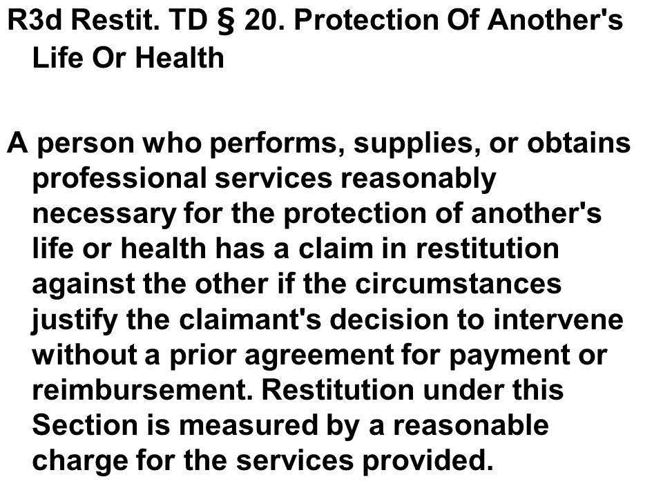R3d Restit. TD § 20.