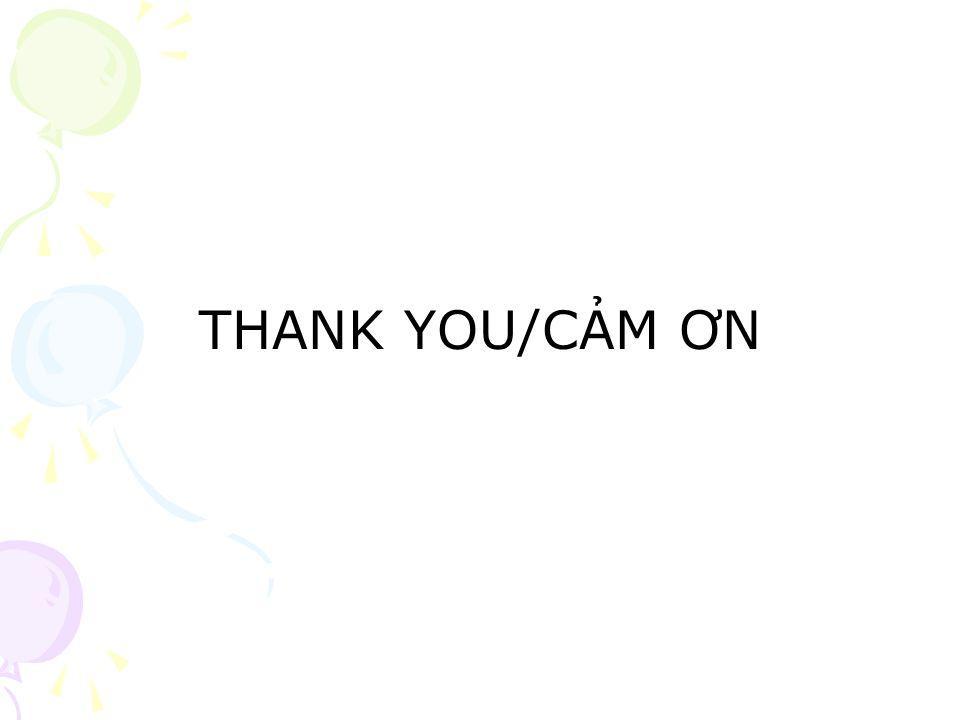 THANK YOU/CẢM ƠN
