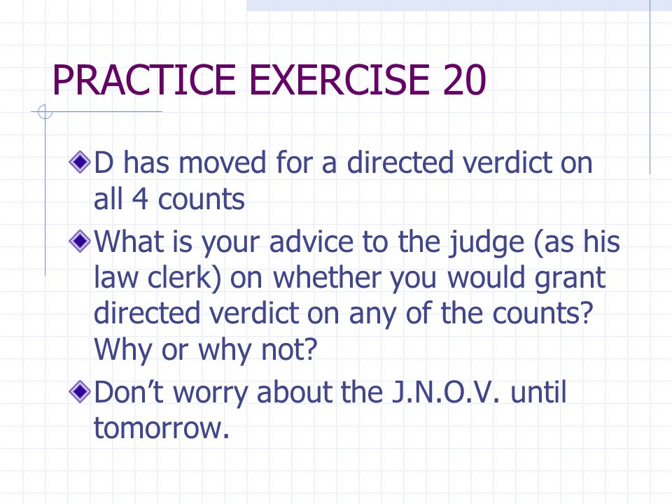 JURY TRIAL (Review) Right to a jury is governed by Amendment VII of the U.S.
