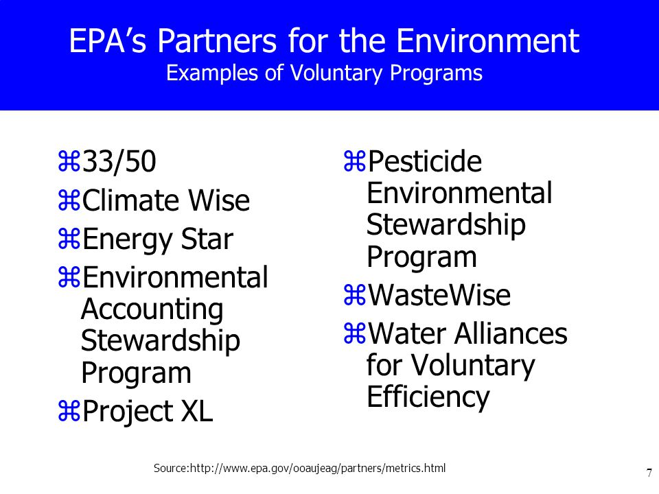 18 33/50 and CMA zEPA's 33/50 program, which CMA supports as consistent with Responsible Care, is an example of a program where the focus has shifted from volume to environmental impact.