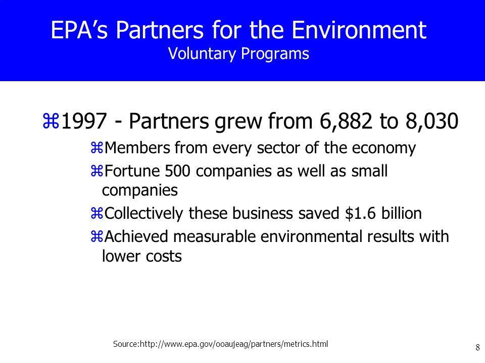 39 33/50 Program: Key Findings zThe program achieved its goal in 1994, one year ahead of schedule zLargest reductions in 33/50 Program chemical emissions were driven by U.S.