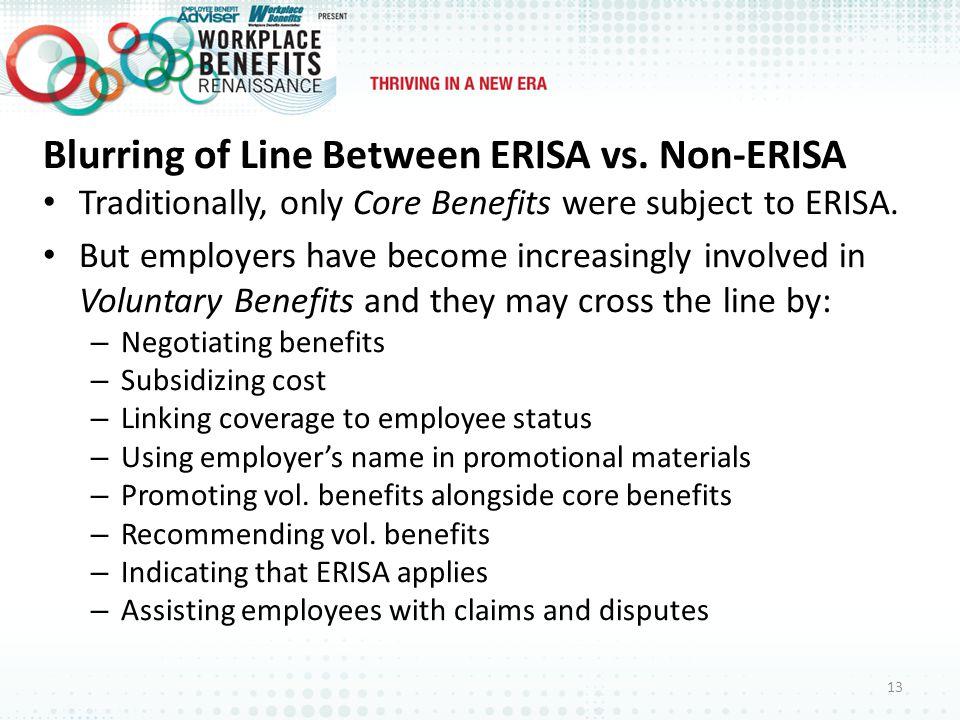 Blurring of Line Between ERISA vs.