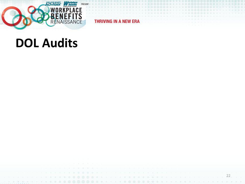DOL Audits 22