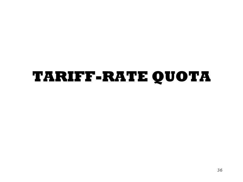 36 TARIFF-RATE QUOTA