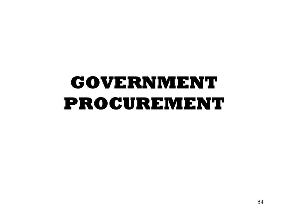 64 GOVERNMENT PROCUREMENT