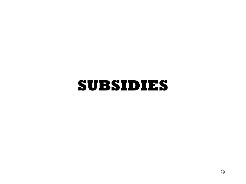 79 SUBSIDIES