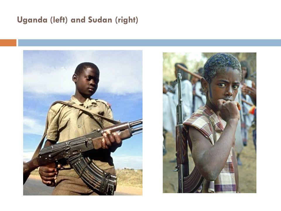 Uganda (left) and Sudan (right)