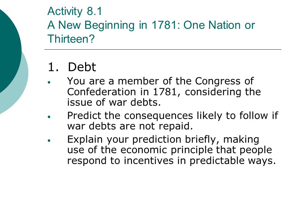 Activity 9.1 The Constitution: Rules for the Economy B.