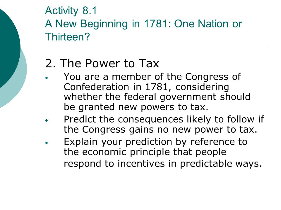 Activity 9.1 The Constitution: Rules for the Economy C.