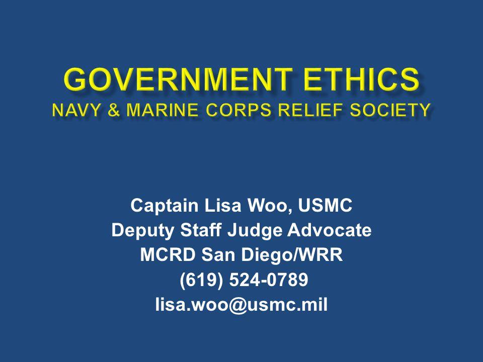 Captain Lisa Woo, USMC Deputy Staff Judge Advocate MCRD San Diego/WRR (619) 524-0789 lisa.woo@usmc.mil