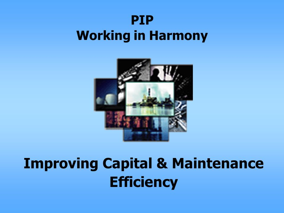 PIP Working in Harmony Improving Capital & Maintenance Efficiency