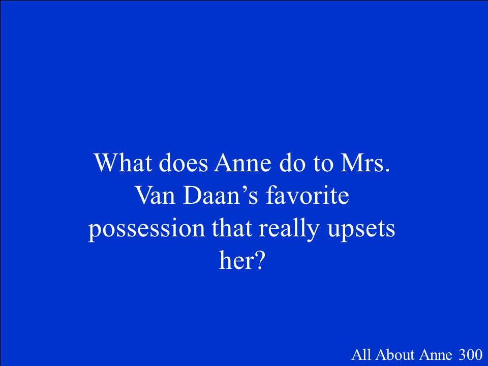 Mr. Dussel All About Anne 200
