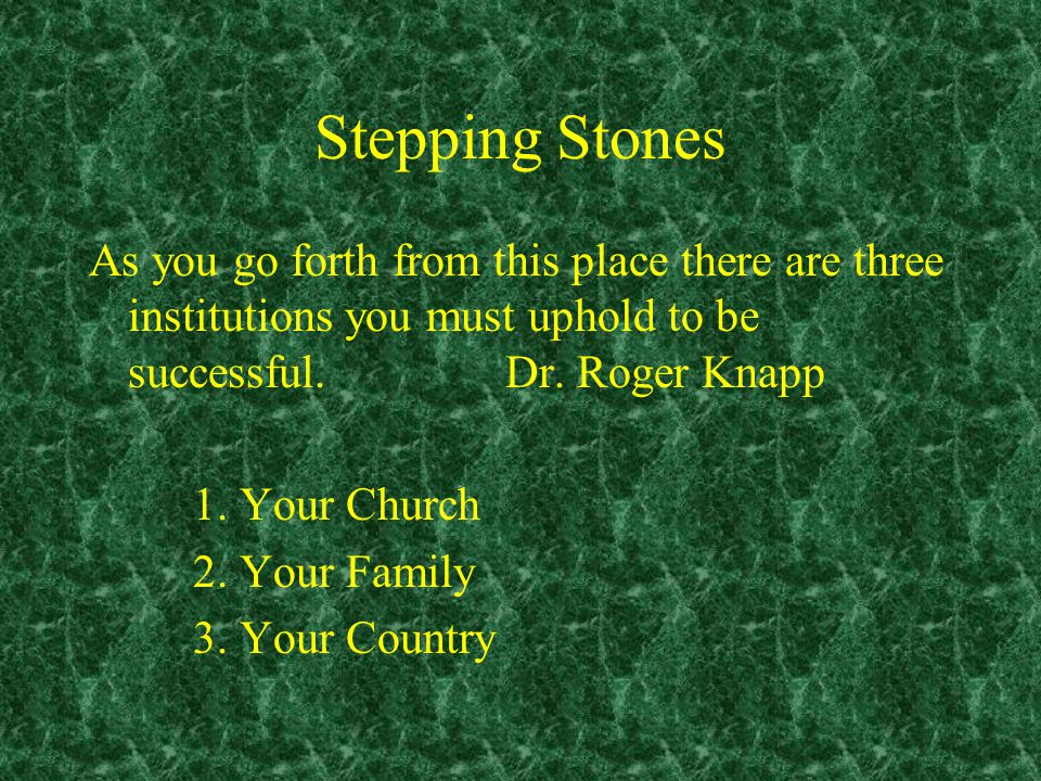 Stepping Stones The First Stepping Stone Hupotasso A voluntary attitude of giving in, cooperating, assuming responsibility for, and carrying a burden.