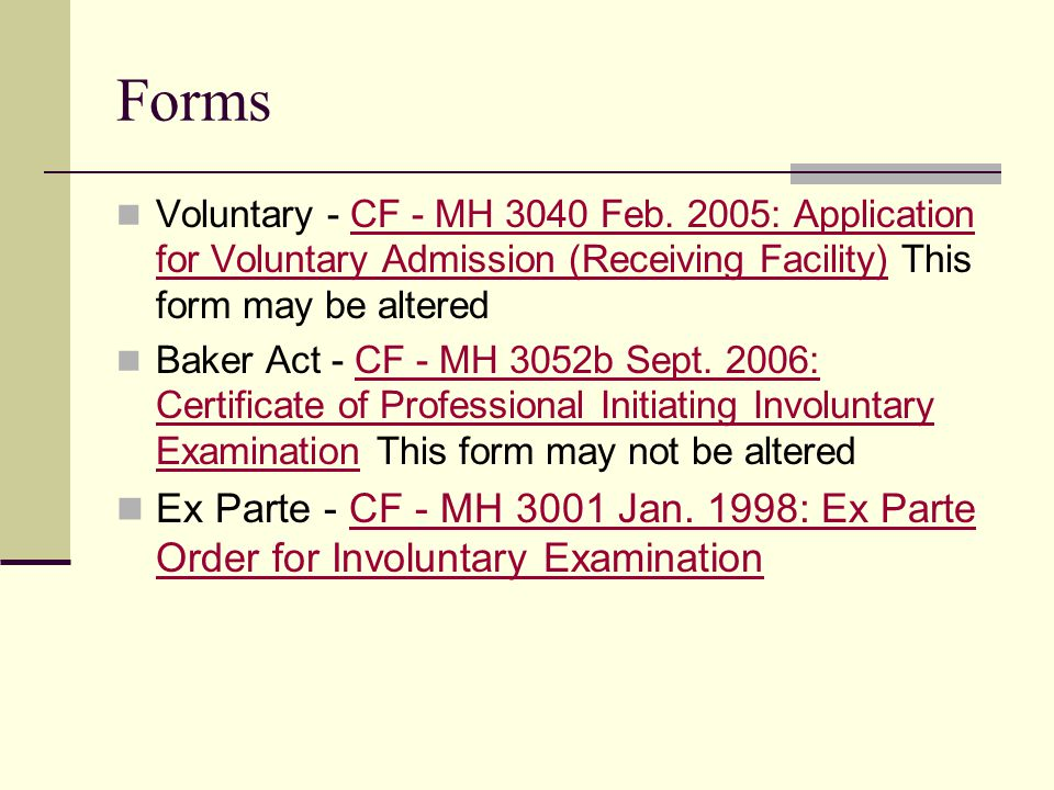 Forms Voluntary - CF - MH 3040 Feb.