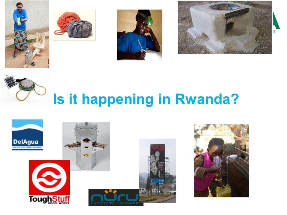 Is it happening in Rwanda