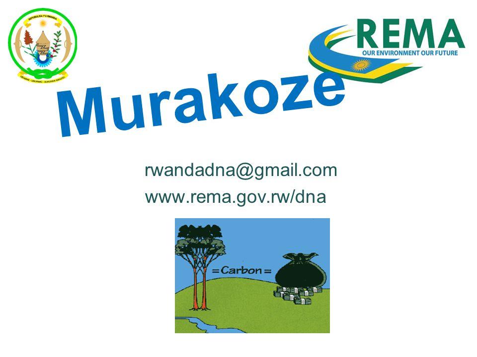 Murakoze rwandadna@gmail.com www.rema.gov.rw/dna