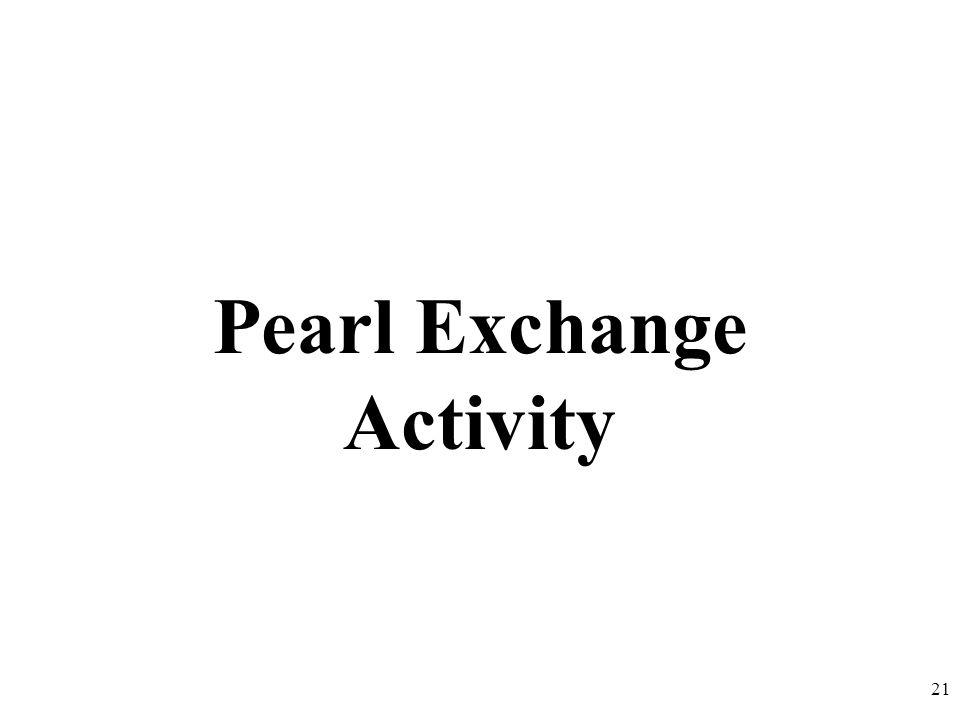 Pearl Exchange Activity 21