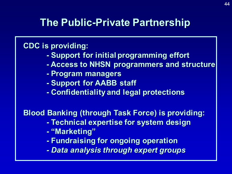 """43 Biovigilance Through a Public-Private Partnership Governmental Agencies Charged with overseeing public health Concerned about """"critical infrastruct"""