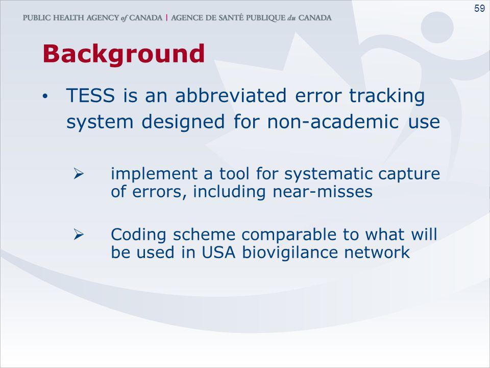 58 The Canadian Transfusion Error Surveillance System (TESS) 2005-2006