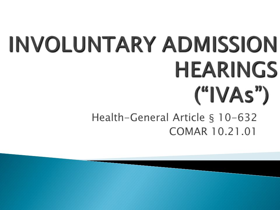 Health-General Article § 10-632 COMAR 10.21.01