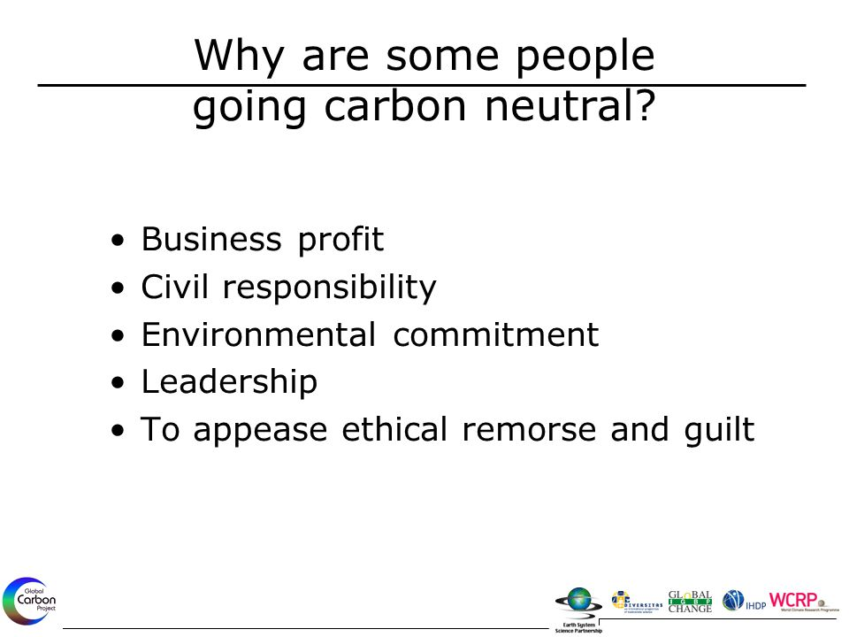 Why are some people going carbon neutral.