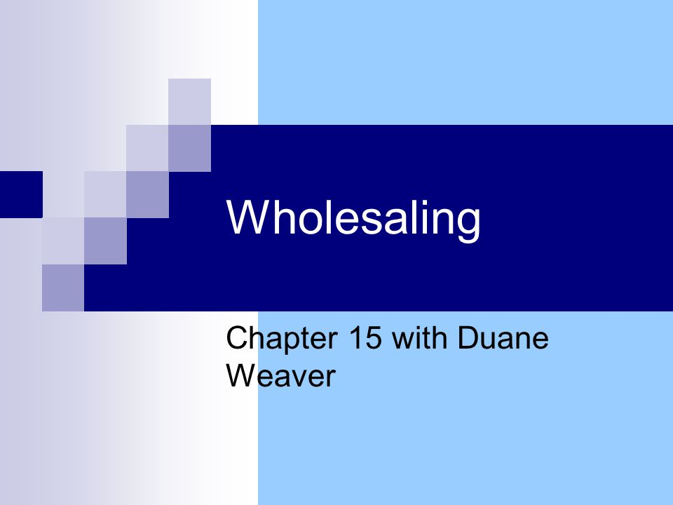 Sector Overview Wholesaler-Distributor (W-D) W-D role in supply chain Growth and Influence of W-Ds