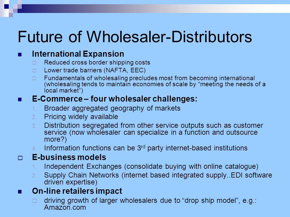 Vertical Integration in Wholesaling Trend of HUGE Power Retailers to bypass independent wholesaler- distributors.